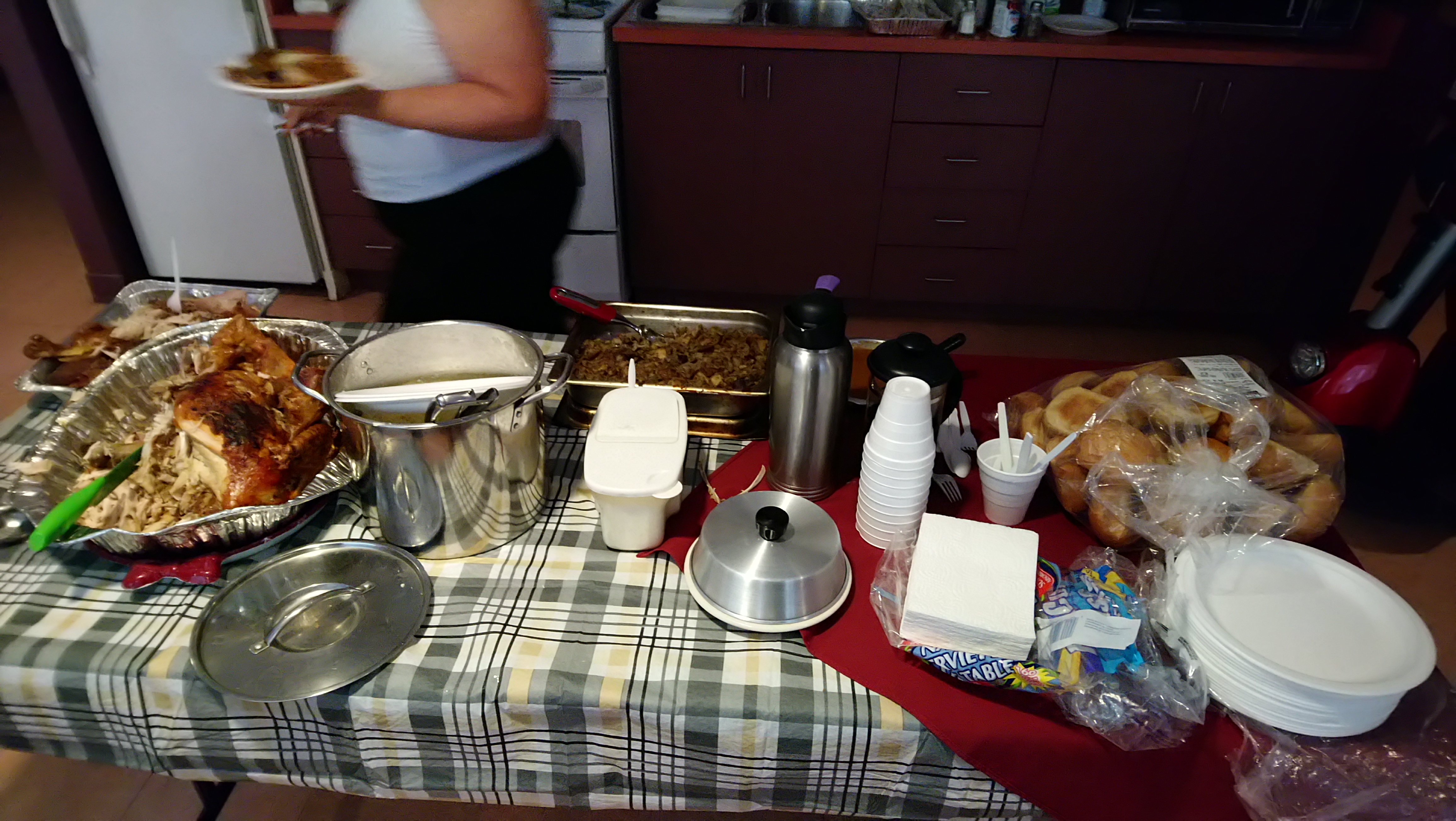 One of the three Tables we laid out our spread on.