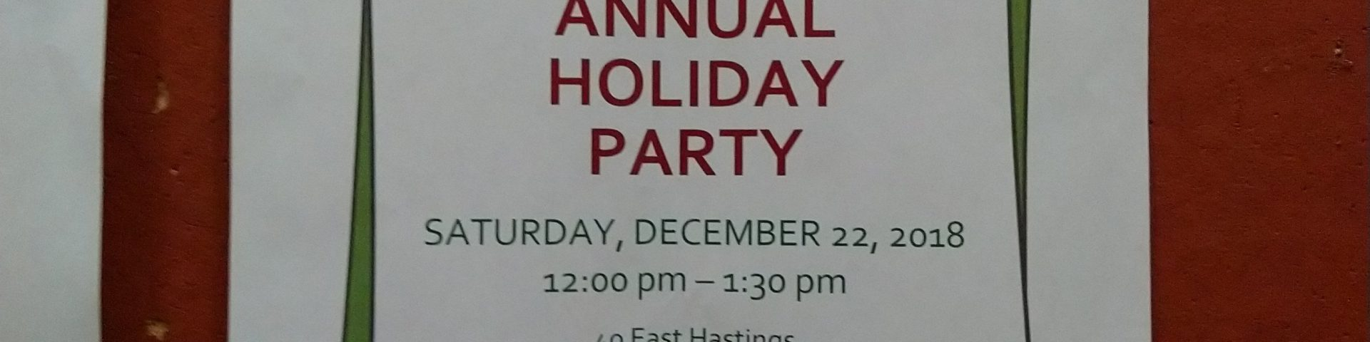 NHS ANNUAL HOLIDAY PARTY